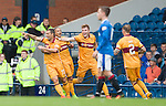 Scott McDonald celebrates his goal for Motherwell