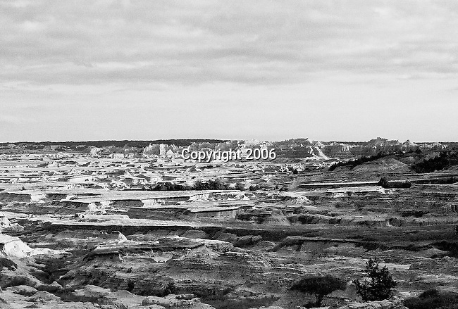 On a roadtrip across US a few buddies and I decided to turn off the main road and ended up coming across to our surprise the bandlands.  Make that Badlands National Park.  This view is located outside of the actual park and is bordered on most sides by cow pastures.  Sometimes it pays to make a left.<br />