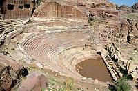 Ancient Roman amphitheatre in Petra, Jordan.