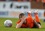 Michael Gardyne after a wild lunge from Sisco