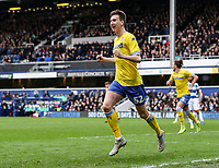 Leeds United's Aapo Halme celebrates scoring his side's first goal <br /> <br /> Photographer Andrew Kearns/CameraSport<br /> <br /> The Emirates FA Cup Third Round - Queens Park Rangers v Leeds United - Sunday 6th January 2019 - Loftus Road - London<br />  <br /> World Copyright &copy; 2019 CameraSport. All rights reserved. 43 Linden Ave. Countesthorpe. Leicester. England. LE8 5PG - Tel: +44 (0) 116 277 4147 - admin@camerasport.com - www.camerasport.com