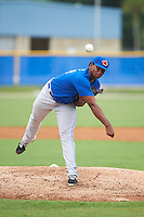 Toronto Blue Jays pitcher Juan Nunez (43) during an instructional league game against the Philadelphia Phillies on September 28, 2015 at the Englebert Complex in Dunedin, Florida.  (Mike Janes/Four Seam Images)