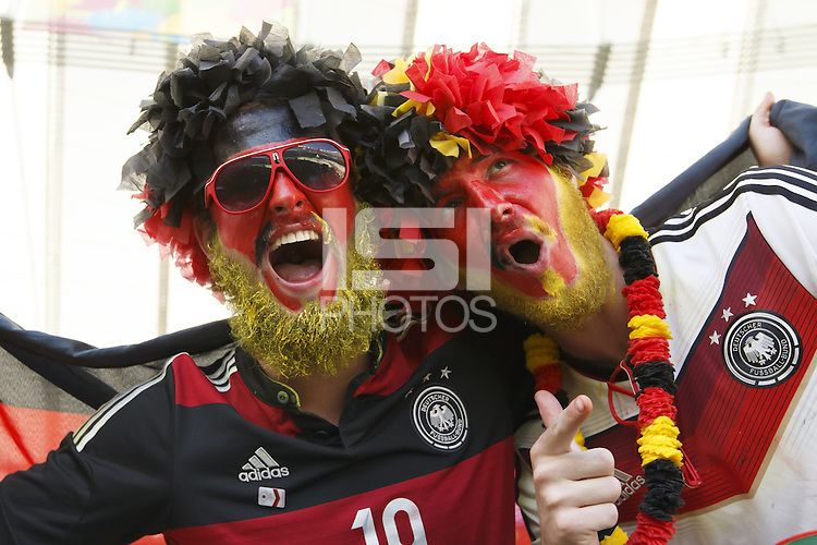 Germany fans in face paint