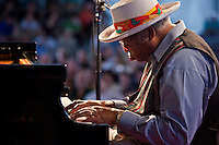 Big Daddy Ellis Marsalis performs on the WWOZ Jazz Tent Stage on Day 7 at the New Orleans Jazz and Heritage Festival at the New Orleans Fair Grounds Race Course in New Orleans, Louisiana, USA, 2 May 2010.