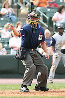 May 26th, 2008:  Home plate umpire Pete Pedersen during a game at Frontier Field in Rochester, NY.  Photo by:  Mike Janes/Four Seam Images