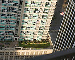 Aerial View of City Apartments