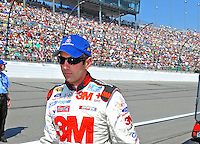 Sept. 28, 2008; Kansas City, KS, USA; Nascar Sprint Cup Series driver Greg Biffle prior to the Camping World RV 400 at Kansas Speedway. Mandatory Credit: Mark J. Rebilas-