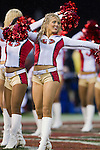 San Francisco 49ers cheerleader dances during an NFC Championship NFL football game against the New York Giants on January 22, 2012 in San Francisco, California. The Giants won 20-17 in overtime. (AP Photo/David Stluka)