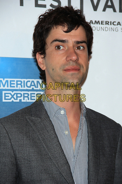 "Hamish Linklater.The 2012 Tribeca Film Festival World Premiere of ""Lola Versus"" at the Tribeca Performing Arts Center, New York, NY, USA..April 24th, 2012.headshot portrait blue shirt grey gray suit jacket .CAP/LNC/TOM.©LNC/Capital Pictures."