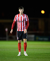 Lincoln City U18's Ellis Chapman<br /> <br /> Photographer Chris Vaughan/CameraSport<br /> <br /> The FA Youth Cup Second Round - Lincoln City U18 v South Shields U18 - Tuesday 13th November 2018 - Sincil Bank - Lincoln<br />  <br /> World Copyright © 2018 CameraSport. All rights reserved. 43 Linden Ave. Countesthorpe. Leicester. England. LE8 5PG - Tel: +44 (0) 116 277 4147 - admin@camerasport.com - www.camerasport.com
