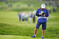 Dominic Bott on the 5th during the friday fourballs at the Ryder Cup, Le Golf National, Iles-de-France, France. 27/09/2018.<br /> Picture Fran Caffrey / Golffile.ie<br /> <br /> All photo usage must carry mandatory copyright credit (© Golffile | Fran Caffrey)