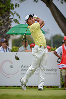 Takumi KANAYA (JPN) watches his tee shot on 12 during Rd 4 of the Asia-Pacific Amateur Championship, Sentosa Golf Club, Singapore. 10/7/2018.<br /> Picture: Golffile | Ken Murray<br /> <br /> <br /> All photo usage must carry mandatory copyright credit (&copy; Golffile | Ken Murray)