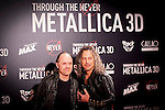 Madrid. España. 09/10/2013. Premiere de la película Through the never de Metallica. Con Kirk Hammett y Lars Ulrich.