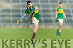 Michael Geaney Kerry in action against  Limerick in the Final of the McGrath Cup at the Gaelic Grounds on Sunday.
