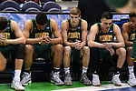 MILWAUKEE, WI - MARCH 16:  The Vermont Catamounts bench looks on during the first half of the 2017 NCAA Men's Basketball Tournament held at BMO Harris Bradley Center on March 16, 2017 in Milwaukee, Wisconsin. (Photo by Jamie Schwaberow/NCAA Photos via Getty Images)