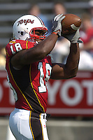 17 September 2005:  Maryland TE Vernon Davis (18)..West Virginia defeated Maryland 31-19 at Byrd Stadium in College Park, MD.