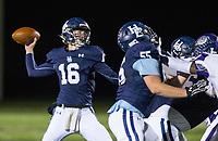 NWA Democrat-Gazette/BEN GOFF @NWABENGOFF<br /> Noah Livingston, Springdale Har-Ber quarterback, throws the ball in the fourth quarter vs Fayetteville Friday, Nov. 2, 2018, during the game at Wildcat Stadium in Springdale.