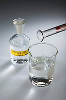 HCL IS ADDED TO DISTILLED WATER<br />