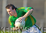 James Flaherty Finuge in action against  Ardfert in the Club Championship Intermediate Semi Fanal at Austin Stack Park on Saturday.
