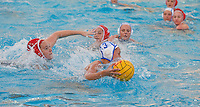 Stanford - February 1, 2015: Katie Dudley during the Stanford vs UCLA title match of the 2015 Stanford Invitational at Avery Aquatic Center on Sunday afternoon.<br /> <br /> The Cardinal defeated the Bruins 9-5.