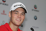 Martin Kaymer speaking after his first round of the Dubai World Championship on the Earth Course at the Jumeirah Golf Estate, Dubai..Picture Fran Caffrey/www.golffile.ie.