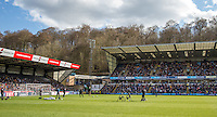 General view as the crew set up during The Impractical Jokers (Hit US TV Comedy) filming at Wycombe Wanderers FC at Adams Park, High Wycombe, England on 5 April 2016. Photo by Andy Rowland.