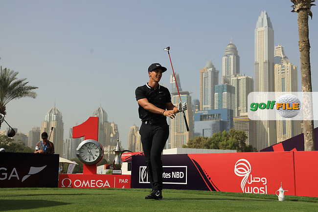 Thorbjorn Olesen (DEN) in action during the third round of the Omega Dubai Desert Classic, Emirates Golf Club, Dubai, UAE. 26/01/2019<br /> Picture: Golffile | Phil Inglis<br /> <br /> <br /> All photo usage must carry mandatory copyright credit (&copy; Golffile | Phil Inglis)