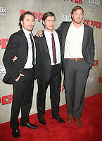 August 14, 2012 Kevin Ryan, Tom Weston-Jones, Dyian Taylor at a premiere of BBC America's Copper at the Museum of Modern Art in New York City. © RW/MediaPunch Inc.