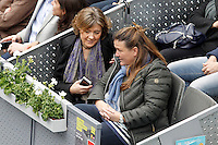 Isabel García Tejerina, Minister of Agriculture, Food and Environment (l) during Madrid Open Tennis 2016 Semifinal match.May, 7, 2016.(ALTERPHOTOS/Acero) /NortePhoto.com