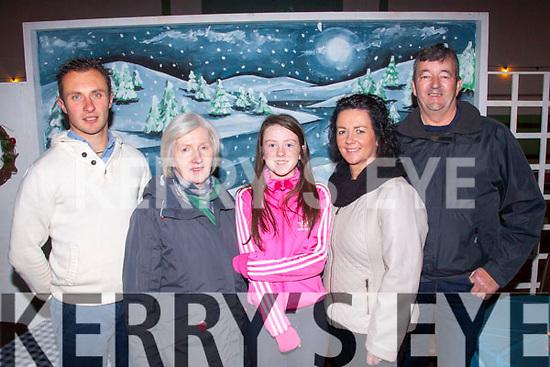 Keel GAA<br /> -----------<br /> Enjoying the 125th anniversary of the Keel Gaa club in the Community hall,Keel last Friday night were L-R James Nagle,Marian Prendergast,Clodagh&Fiona Evans&James Kelliher.