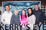 Keel GAA<br /> -----------<br /> Enjoying the 125th anniversary of the Keel Gaa club in the Community hall,Keel last Friday night were L-R James Nagle,Marian Prendergast,Clodagh&Fiona Evans&James Kelliher.