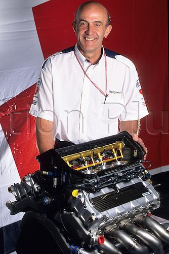 1995 San Marino. Brian Hart Engineer<br /> Grand Prix San Marin  1995. Displays the 830 V8 3L  Team Arrows