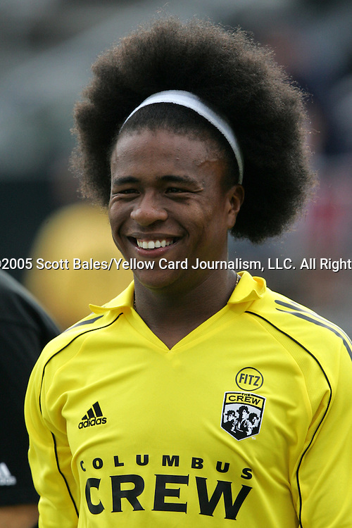 20 August 2005: Columbus's Jamaal Sutton. The Columbus Crew defeated FC Dallas 1-0 at Columbus Crew Stadium in Columbus, Ohio in a Major League Soccer Regular Season Match.