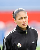 Mexico's Monica Vergara during the team presentation. USA women's national team defeated Mexico 5-0 at Gillette Stadium in Foxborough MA on April 14, 2007