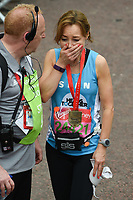 Sian Williams at the finish line on The Mall at the 2017 London Marathon, London, UK. <br /> 23 April  2017<br /> Picture: Steve Vas/Featureflash/SilverHub 0208 004 5359 sales@silverhubmedia.com