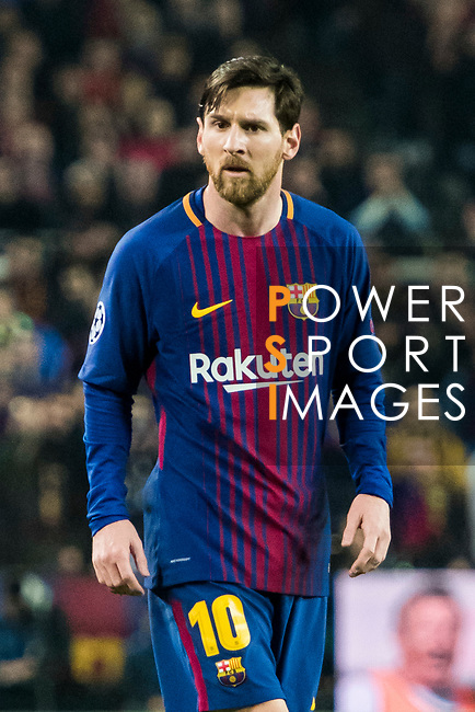 Lionel Andres Messi of FC Barcelona looks on during the UEFA Champions League 2017-18 Round of 16 (2nd leg) match between FC Barcelona and Chelsea FC at Camp Nou on 14 March 2018 in Barcelona, Spain. Photo by Vicens Gimenez / Power Sport Images