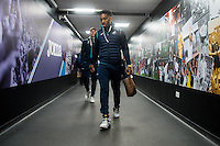Leroy Fer of Swansea City arrives ahead of the Premier League match between Swansea City and Leicester City at The Liberty Stadium, Swansea, Wales, UK. Sunday 12 February 2017