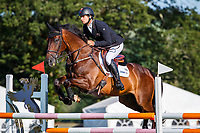 NZL-James Avery rides One Of A Kind during the Showjumping for the House of Waterford Crystal CCI3*-S. 2019 IRL-Sema Lease Camphire International Horse Trials. Cappoquin. Co. Waterford. Ireland. Saturday 27 July. Copyright Photo: Libby Law Photography