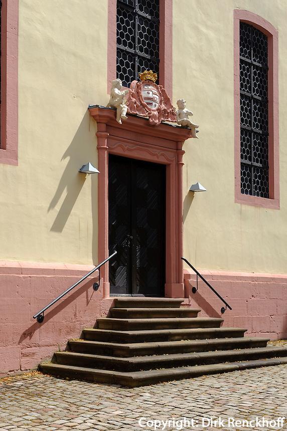 Barocke evangelische Kirche in Bad König im Odenwald, Hessen, Deutschland