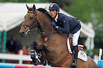 Spain's jockey Manuel Anon with the horse Baldo DS during 102 International Show Jumping Horse Riding, Gran Prix of Madrid-Volvo Throphy.May, 19, 2012. (ALTERPHOTOS/Acero)