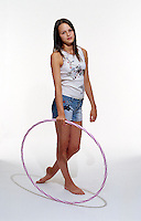 Girl with hoola-hoop