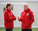 19.3.2018: Scotland u21 training:<br /> Scot Gemmill and Peter Houston