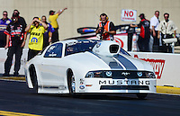 Oct. 5, 2012; Mohnton, PA, USA: NHRA pro stock driver Frank Gugliotta during qualifying for the Auto Plus Nationals at Maple Grove Raceway. Mandatory Credit: Mark J. Rebilas-