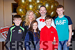 Adrian Moriarty with his supporters David Darmody, Ann Marie Moriarty, Aine, Adrian, Ross and Darren Moriarty at the Rathmore Strictly Come Dancing in the INEC on Saturday night