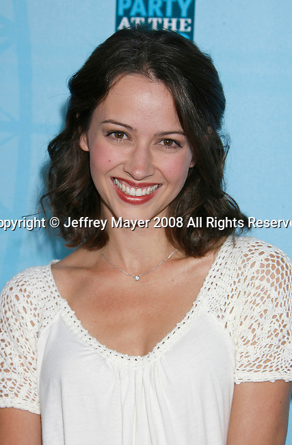 Actress Amy Acker arrives at the Fox All-Star Party At The Pier at the Santa Monica Pier on July 14, 2008 in Santa Monica, California.