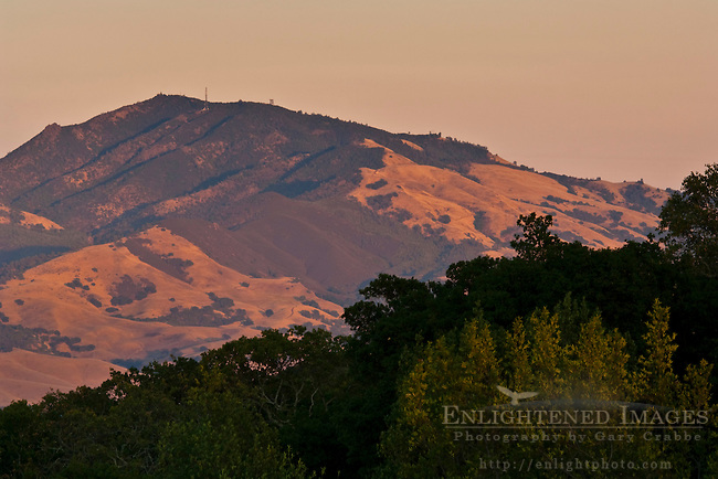 Mount Diablo at sunset, Contra Costa County, California