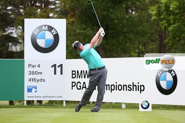 Richard Finch (ENG) during Round Two of the 2015 BMW PGA Championship over the West Course at Wentworth, Virginia Water, London. 22/05/2015Picture David Lloyd, www.golffile.ie.