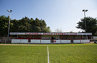 General view of the stadium pre match during the UHLSport Hellenic Premier League match between Flackwell Heath v Tuffley Rovers at Wilks Park, Flackwell Heath, England on 20 April 2019. Photo by Andy Rowland.