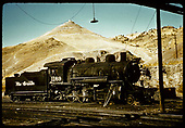 D&amp;RGW #1169 standard gauge engine at Salida yards. Tenderfoot hill in background.<br /> D&amp;RGW  Salida, CO