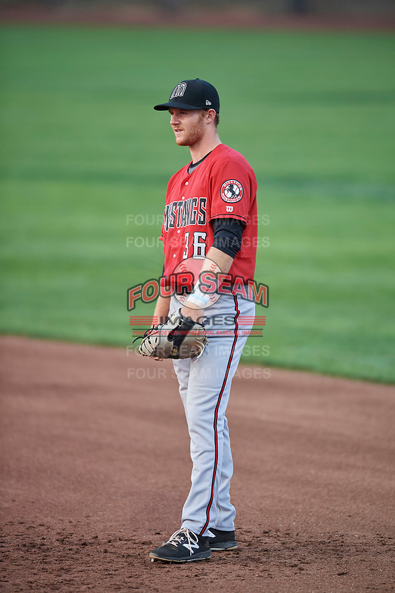 Jay Schuyler (36) of the Billings Mustangs during a game against the Ogden Raptors at Lindquist Field on August 18, 2018 in Ogden, Utah. Billings defeated Ogden 6-4. (Stephen Smith/Four Seam Images)